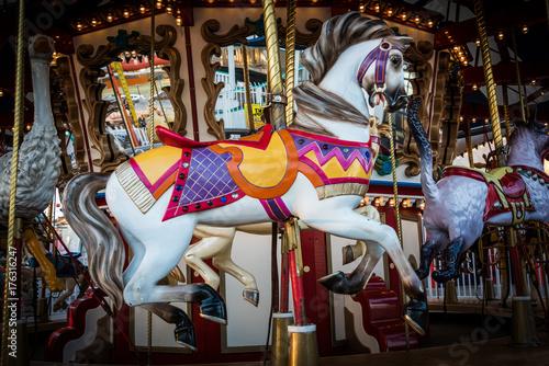 Fotografie, Tablou  Classic Merry-Go-Round Horse
