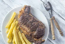 Beef Steak With Fried Potatoes...