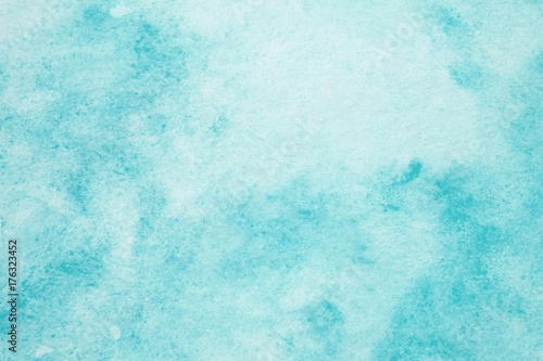 Photo  Blue abstract watercolor painting textured on white paper background