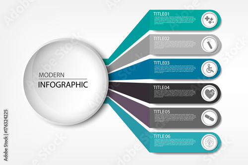 Fotografering  Medical information display Process chart Abstract element of the diagram diagra