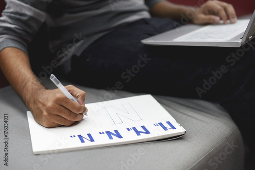 Startup Business People Writing on Notebook Canvas Print