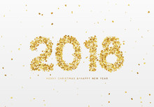2018 Happy New Year. Gold Conf...