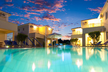 Exterior Of A Greek Resort