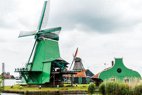 Photo  Windmills in the Netherlands