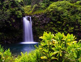 Panel Szklany Współczesny Road to Hana Waterfall