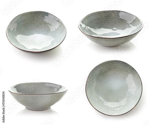 Empty grey bowl