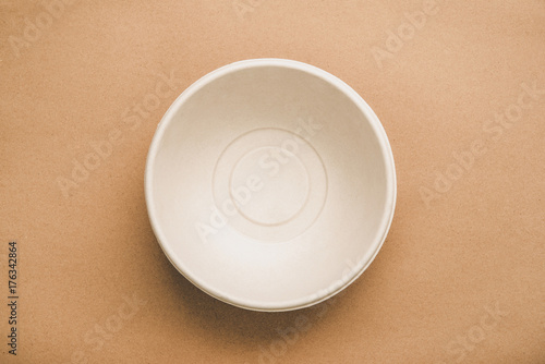 Environmental eco friendly natural compostable food container round shape bowl o Wallpaper Mural