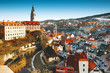 Cesky Krumlov in winter, Czech Republic, Europe