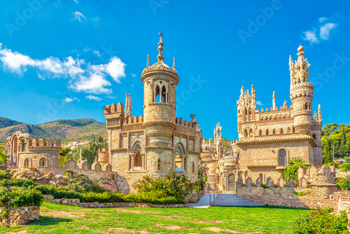 Foto op Canvas Kasteel View at the Colomares castle in Benalmadena, dedicated of Christopher Columbus - Spain