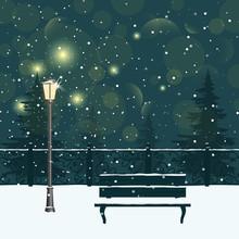 Christmas Winter Night City Pa...