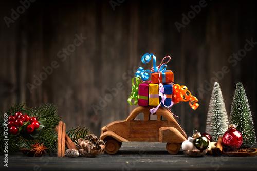 Geschenke für das Weihnachtsfest Fototapet