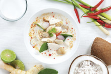 Coconut Milk Soup With Chicken...