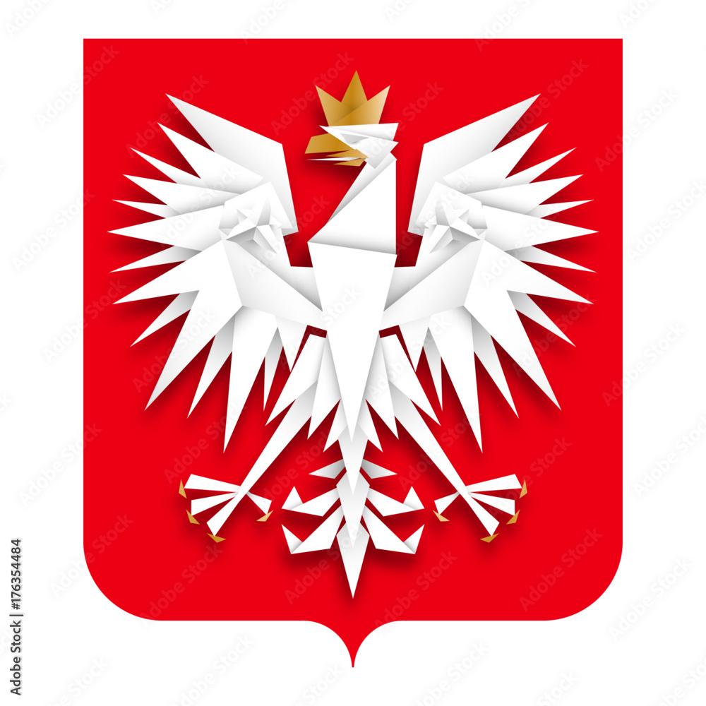 Fototapeta godło Polski wektor