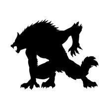 Werewolf Silhouette Ancient My...