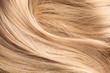 Leinwanddruck Bild - blond human hair texture