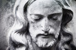 canvas print picture - fragment of antique statue Jesus Christ as a symbol of love, faith and religion.