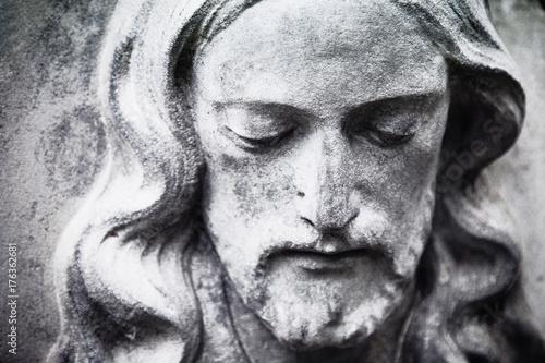 fragment of antique statue ...