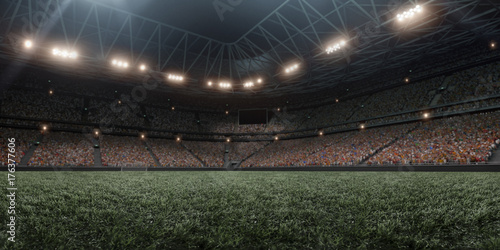 Professional soccer arena in 3D Canvas Print