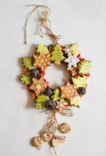 Christmas Wreath With Cookies....