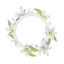 Watercolor Floral Frame 1. Ele...