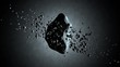 3D rendered Animation of Asteroid floating in space with orbiting rocks.