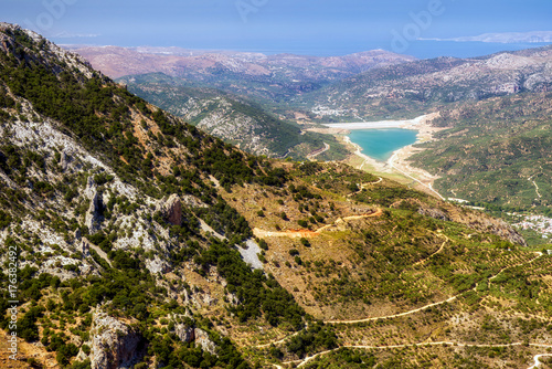 Carta da parati Dikti mountains in Crete, Greece