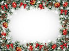 Decorative Christmas Frame Wit...