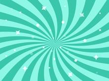 Vector Illustration For Swirl Design. Swirling Radial Pattern Stars Background.