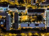 Aerial view of public housing of Hong Kong at night