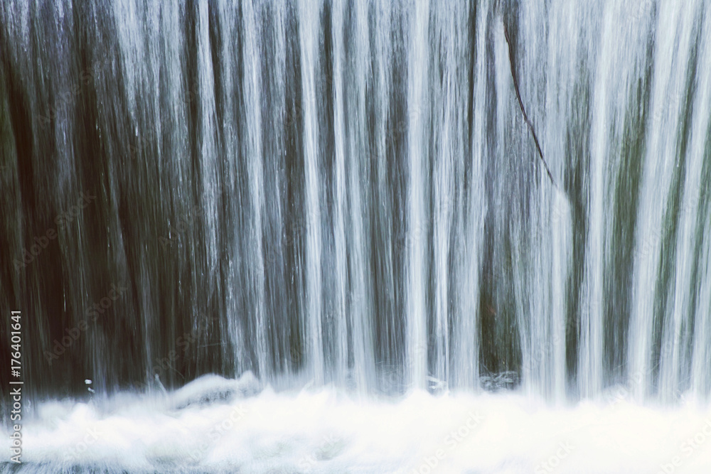 Fototapety, obrazy: Waterfall close up, blur and foam, nature background