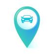 Map Pointer blau - Auto