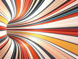 Fototapeta Scene - Abstract colorful digital background, 3d tunnel