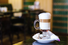 Soft Focus On Capuccino Coffee...