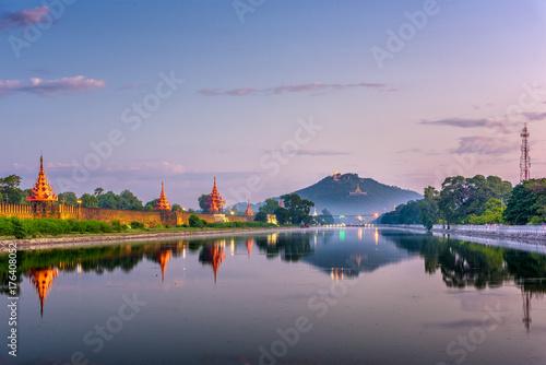 Mandalay, Myanmar at Mandalay Hill Poster