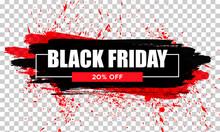 Black Friday Sale. Black Web Banner. Poster Sale. The Original Inscription. Vector Illustration