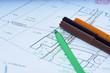 Przybory biurowe, liczenie i kalkulacje arhitektoniczne
