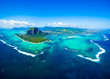 canvas print picture - Aerial view of Mauritius island
