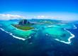 Leinwandbild Motiv Aerial view of Mauritius island