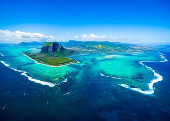 Widok z wyspy Mauritius