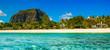 Panoramic view of Mauritius island landscape