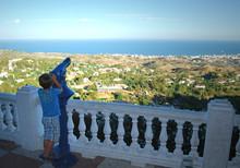 Curiosidad, Niño, Mirador, Mijas, Málaga
