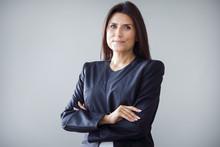 Portrait Of Businesswoman On G...