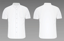 Short Sleeve Shirt. Vector Ill...