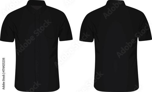 Fototapeta Short sleeve shirt. vector illustration obraz na płótnie