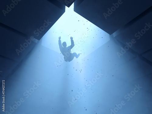 Obraz man falling into a hole  - fototapety do salonu