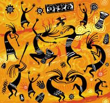 Dancing Figures In A Primitive...