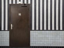 Door To A Public Bathroom And ...
