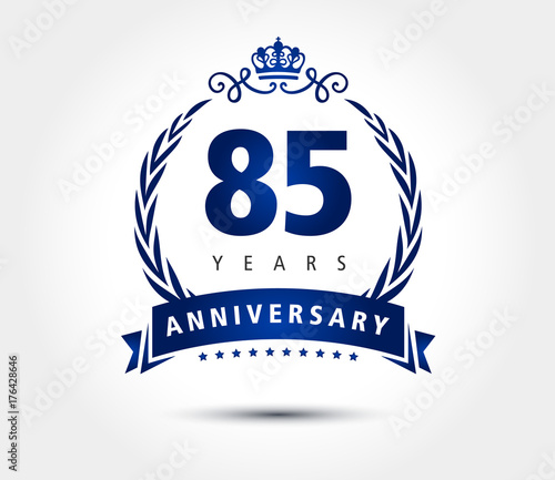 Papel de parede  85 years anniversary crown vector