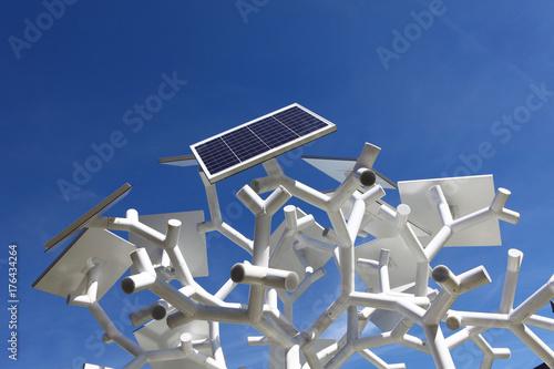 Panneaux photovoltaïques design Fototapet