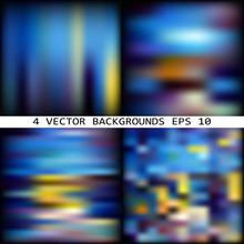 Impressionism. Set Of Abstract Multicolor Vector Backgrounds.